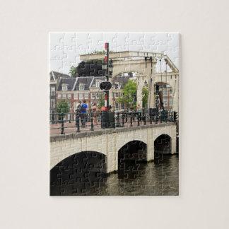 Quebra-cabeça Ponte magro, Amsterdão, Holland