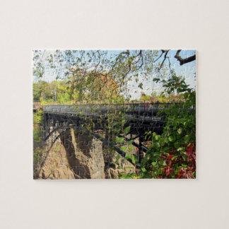 Quebra-cabeça Ponte no parque de Mary Ellen Kramer Great Falls,