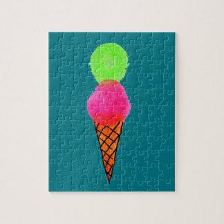 Quebra-cabeça Pop art do sorvete