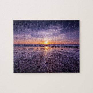 Quebra-cabeça Por do sol atlântico roxo 8x10
