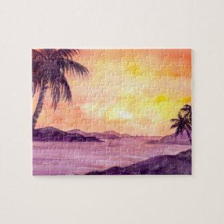 Quebra-cabeça Por do sol nos trópicos pelo Greenfield de Farida