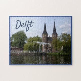 Quebra-cabeça Porta de Delft (Oostpoort) com texto