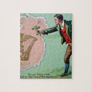 Quebra-cabeça Poster da ilha dos erin do dia de Patrick de santo