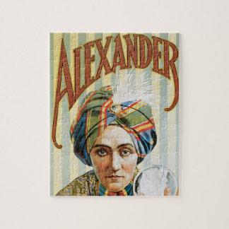 Quebra-cabeça Poster mágico do vintage, Alexander, homem que