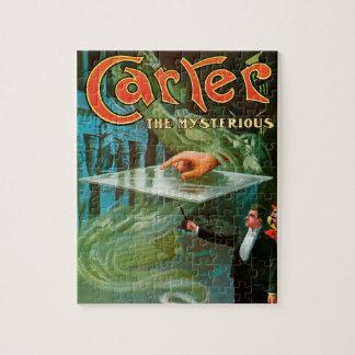Quebra-cabeça Poster mágico do vintage, Carter o misterioso