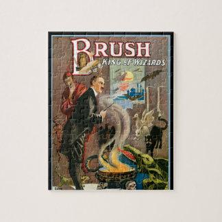 Quebra-cabeça Poster mágico do vintage, escova, rei dos