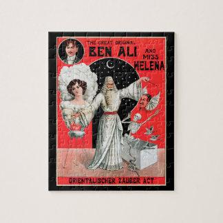 Quebra-cabeça Poster mágico do vintage, grande Ben original Ali