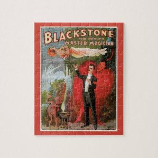 Quebra-cabeça Poster mágico do vintage, grande mágico de