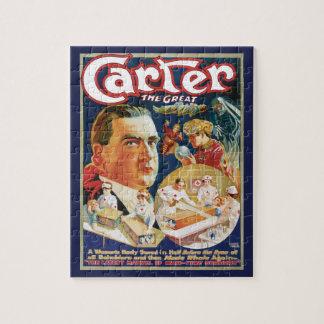 Quebra-cabeça Poster mágico do vintage, mágico Carter o