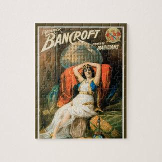 Quebra-cabeça Poster mágico do vintage, mágico Frederick