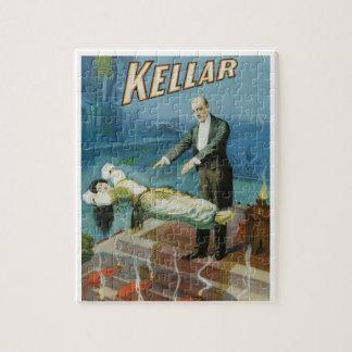 Quebra-cabeça Poster mágico do vintage, mágico Harry Kellar