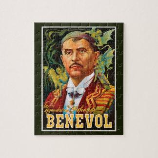 Quebra-cabeça Poster mágico do vintage, professor legendário
