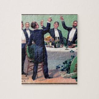 Quebra-cabeça Poster vintage original da bebida do dia de