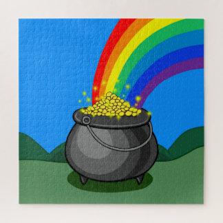Quebra-cabeça Pote de ouro & de arco-íris