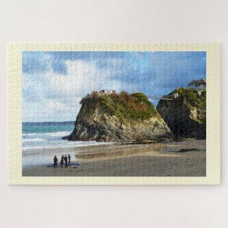 Quebra-cabeça Praia de Newquay em Cornualha