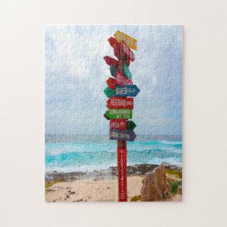 Quebra-cabeça Praia México de Cozumel do cargo de sinal do