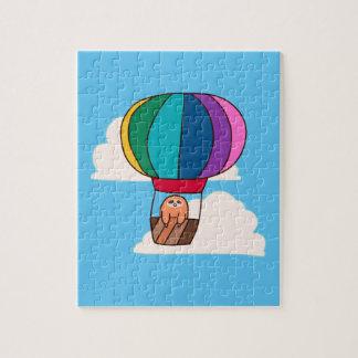 Quebra-cabeça Preguiça do balão de ar quente