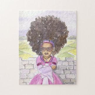 Quebra-cabeça preto da princesa Afro de Rapunzel