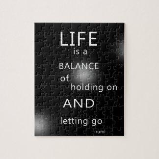 Quebra-cabeça Preto inspirado das citações da vida