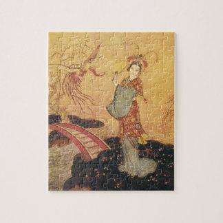 Quebra-cabeça Princesa Badoura do conto de fadas do vintage,
