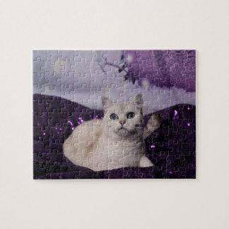 Quebra-cabeça Purple XMAS Cats