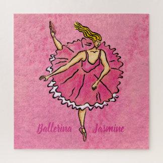 Quebra-cabeça Quadrado cor-de-rosa do en Pointe da bailarina
