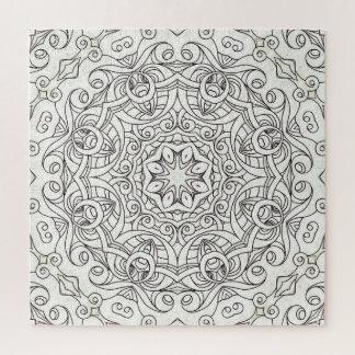 Quebra-cabeça que tira o Doodle floral G2