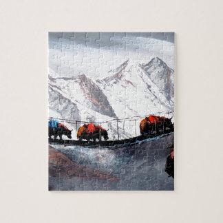Quebra-cabeça Rebanho de iaques Himalaya da montanha