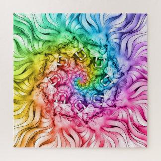 Quebra-cabeça Redemoinho do arco-íris da mandala do orgulho do