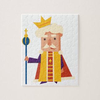 Quebra-cabeça Rei personagem de desenho animado