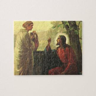 Quebra-cabeça Religião do vintage, cristo e o bom samaritano