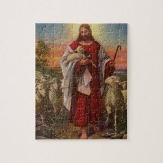 Quebra-cabeça Religião do vintage, cristo o bom pastor