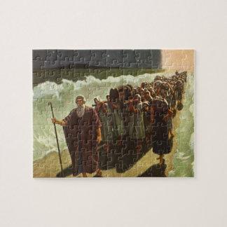 Quebra-cabeça Religião do vintage, cruzamento de Moses do Mar