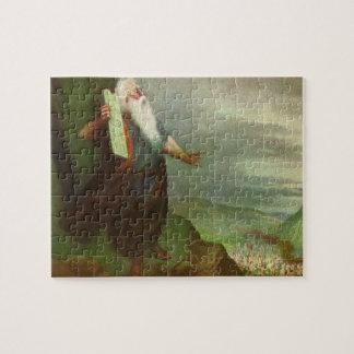 Quebra-cabeça Religião do vintage, Moses e 10 mandamentos