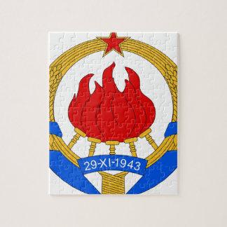 Quebra-cabeça República federal socialista do emblema de