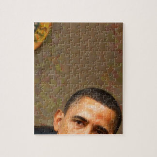 Quebra-cabeça Retrato abstrato do presidente Barack Obama 11