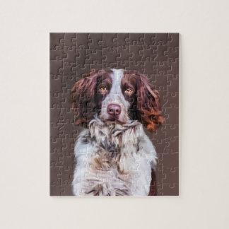 Quebra-cabeça Retrato da pintura a óleo do cão do Spaniel de