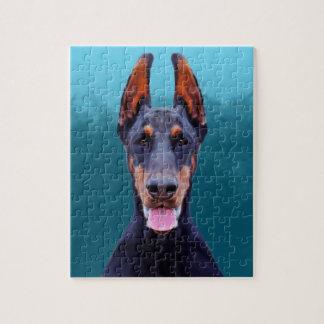 Quebra-cabeça Retrato do cão do Doberman