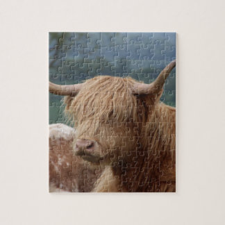 Quebra-cabeça retrato do gado das montanhas