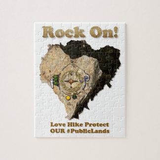 Quebra-cabeça ROCHA SOBRE! A caminhada do amor protege nossos