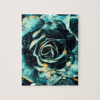 Quebra-cabeça Rosa do azul