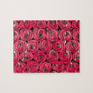 Quebra-cabeça Rosas de Nouveau da arte do vintage