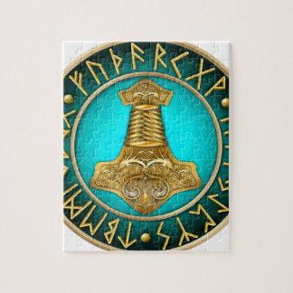 Quebra-cabeça Runes - martelo dos Thors - cerceta