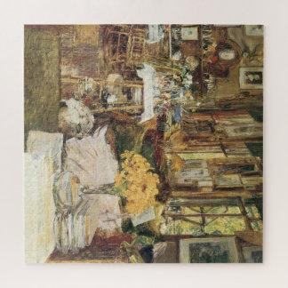 Quebra-cabeça Sala das flores por Childe Hassam, belas artes do