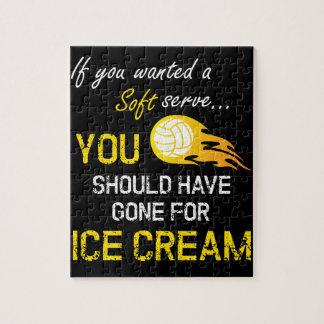 Quebra-cabeça Se você quis um macio servir o sorvete - voleibol