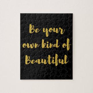 Quebra-cabeça Seja seu próprio tipo de bonito