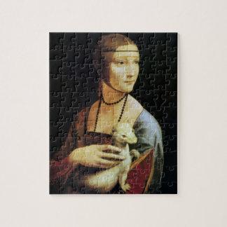 Quebra-cabeça Senhora com um arminho por Leonardo da Vinci