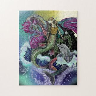 Quebra-cabeça Sereia, dragão, &Dolphin