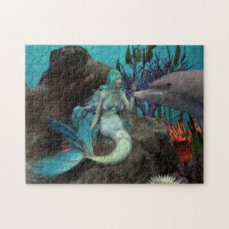 Quebra-cabeça Sereia e golfinho