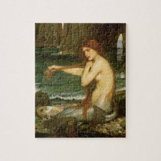 Quebra-cabeça Sereia pelo Waterhouse de JW, arte da mitologia do